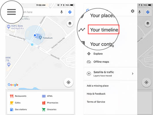 How to Use Google Maps Timeline on iPhone/Android in 2019