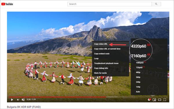 Using Jihosoft 4K Video Downloader to download YouTube 8K videos.