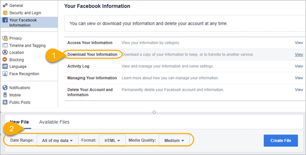 Tips for Perform a Backup of Your Facebook Messages