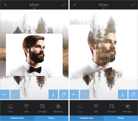 Enlight is another iPhone photo editing app that allows you to create double exposure photographs skilfully.
