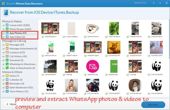 Transfer WhatsApp Photos and Videos Via a Third-Party Software