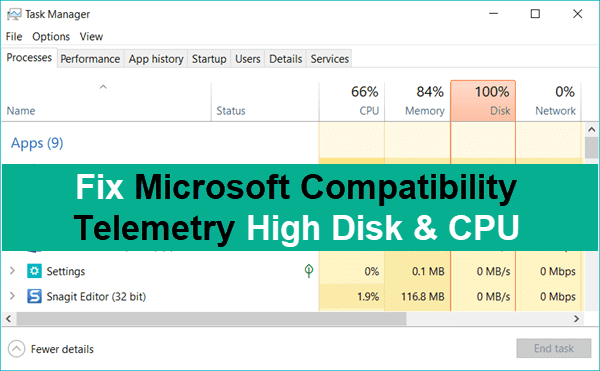 Fix Microsoft Compatibility Telemetry High Disk