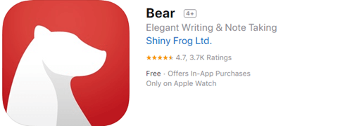 As one of the best note taking apps for iPad, iPhone, and Mac, Bear is thoughtfully designed.