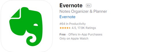 When it comes to the best note taking apps, Evernote must be on the list.