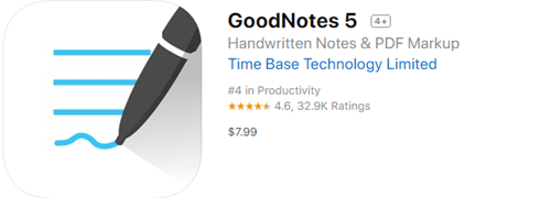 GoodNotes is a decent note-taking app for you to take handwritten notes on your iPad with Apple Pencil.