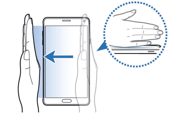 How to Screenshot on Samsung by Palm Swipe to Capture.