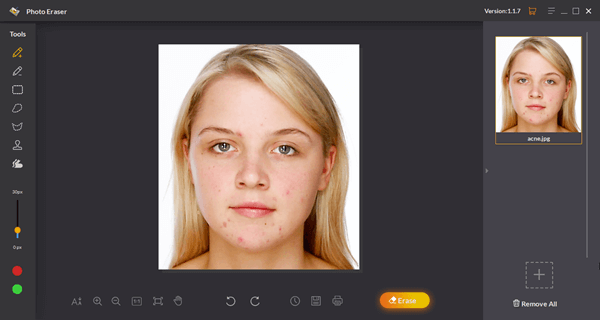 Jihosoft Photo Eraser is a blemish remover that you need.