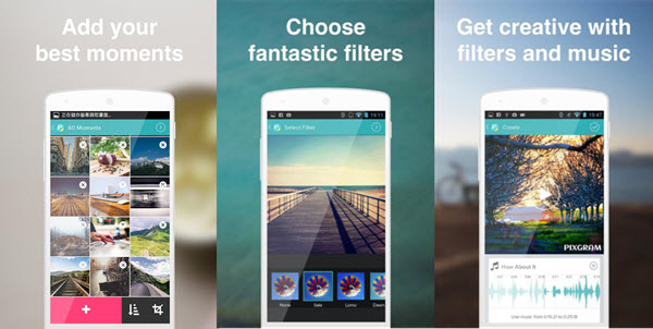 Pixgram is certainly the best app to make videos with pictures and music for Android and iOS users.