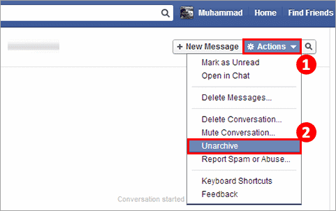 Recover Deleted Messages on Facebook Messenger from Archive Messages