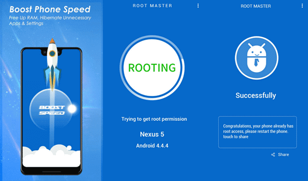 With Root Master you do not have to make use of a computer to root Samsung Galaxy.