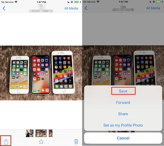 Save WhatsApp Photos and Videos to iPhone Manually