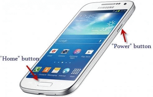 Take a Screenshot on Samsung by Using the Power and Home Button