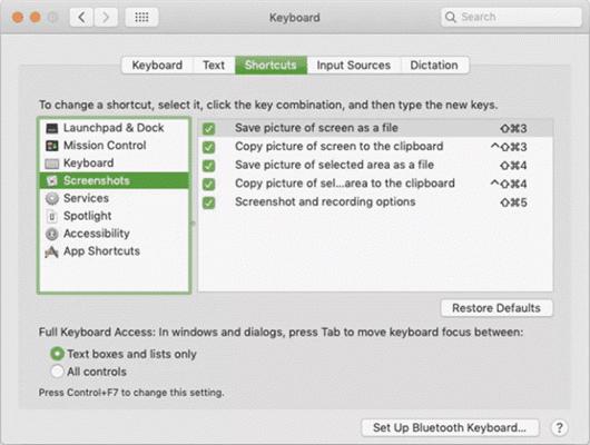 Check Screenshot Shortcut Settings
