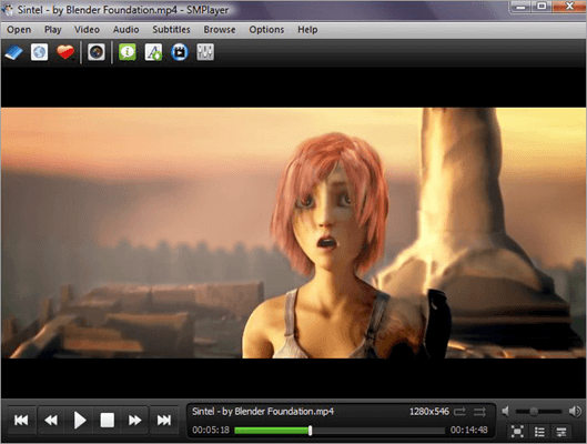 This is a free, open-source MP4 video player, supporting all types of video formats and having built-in codecs.