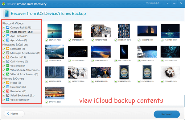 Access and View iCloud Backup Files via a Third-Party Tool