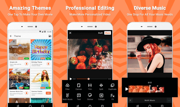 VivaVideo is the best photo video maker app for Android and iPhone
