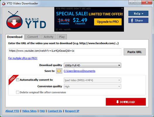 YTD is a famous video download software.