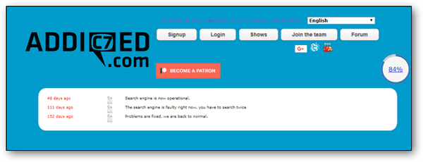 Addic7ed is a popular site delivering the subtitles of the latest movies and TV shows.