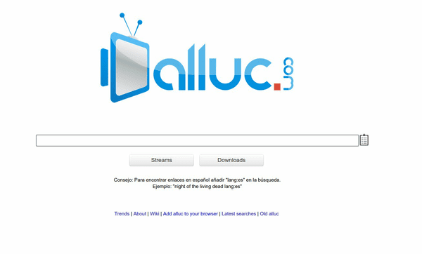 Alluc is an AVI movies site offering its services since 2006.