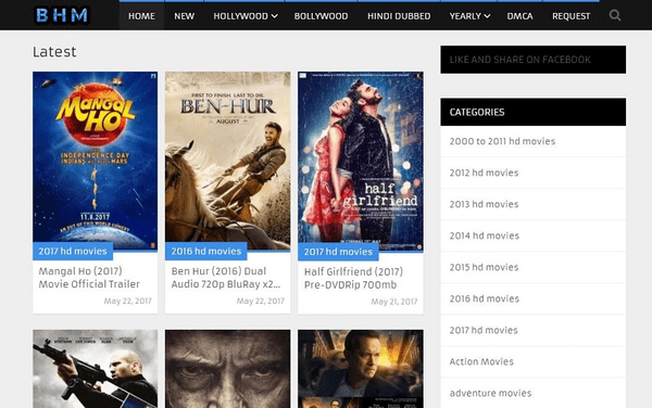 Best HD Movies hosts the HD movies in AVI format.