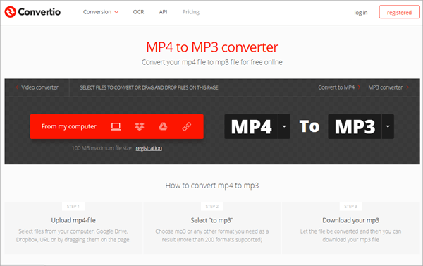 Convertio is another tool that can be considered the best MP4 to MP3 converter.