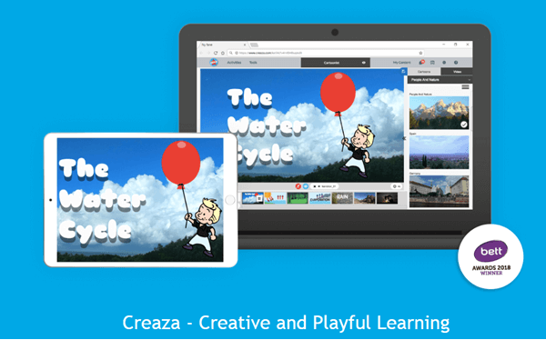 Using Creaza to edit videos online for free.