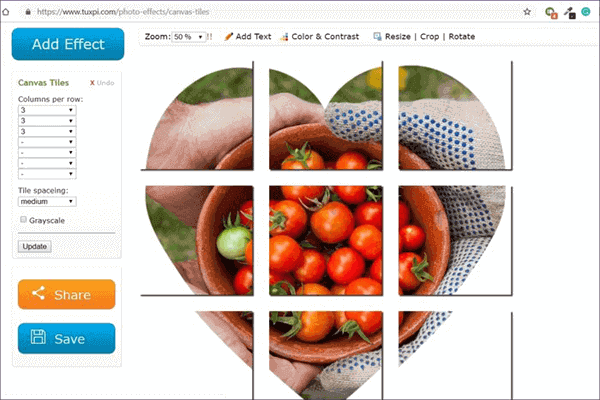 Tuxpi is another useful website that can be used for cropping photos into various shapes.
