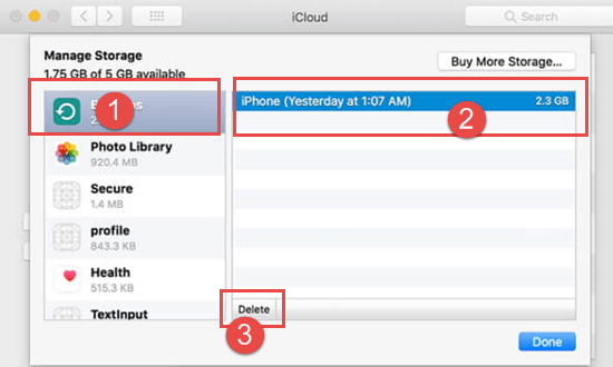 How to Delete Backup from iCloud on Mac