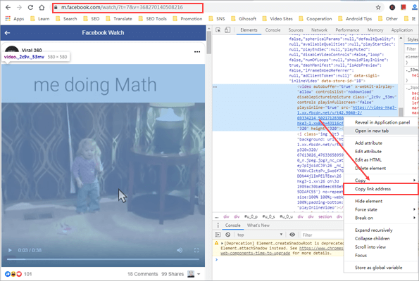 Download Facebook Videos via Chrome