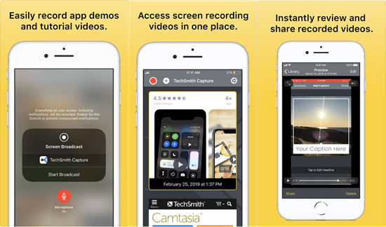 TechSmith Capture is undoubtedly one of the best iOS screen recorder tools for the iPhone, iPad