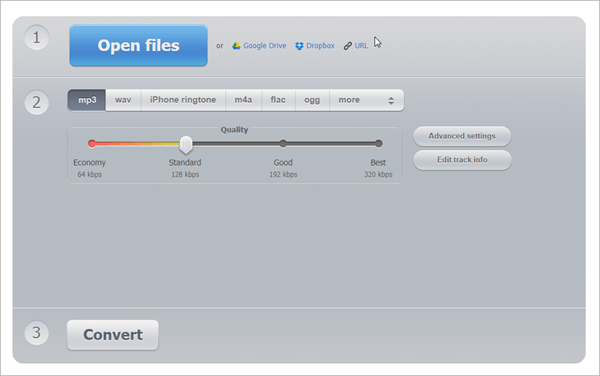 With Online Audio Converter, you have different things because you can acquire the MP4 file