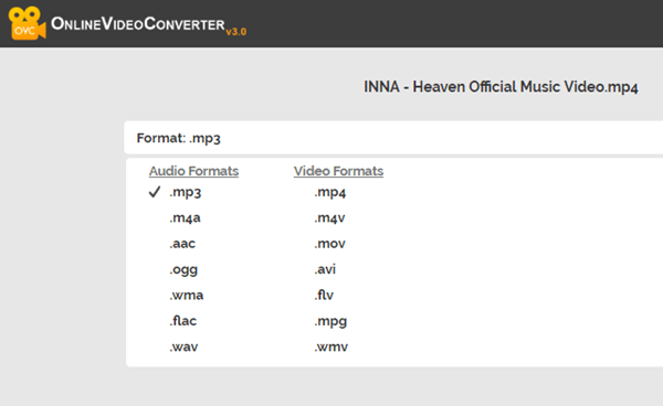 Online MP4 to MP4 converter can easily use to convert your videos to audio in no time.