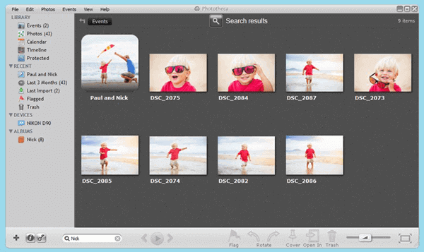 Phototheca is one of the best image management software which can help you organize your photos in a better way.