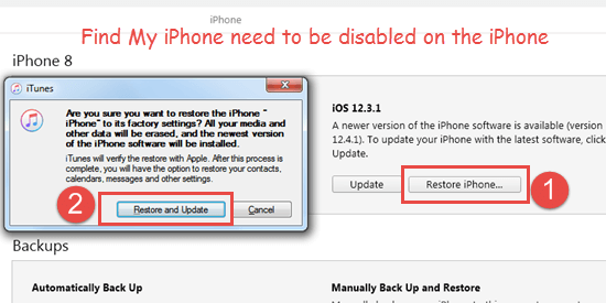 Reset iPhone with iTunes When Forget Passcode