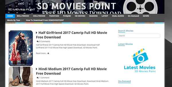 SD Movies Point is a site delivering all categories of movies in standard quality.