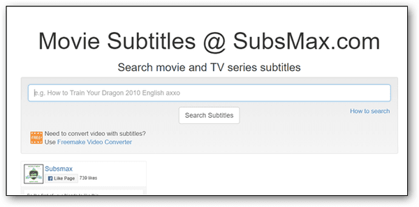 Subs Max is one of the simplest and most direct sites with a quick search option.