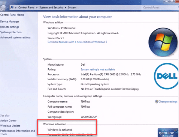 How to Check the Activation Status of Windows 7