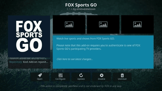 Fox Sports Go Kodi add-on is another very suitable choice for the users who wants to stream live action of MLS Soccer, MLB Baseball, NBA and UFC, etc.