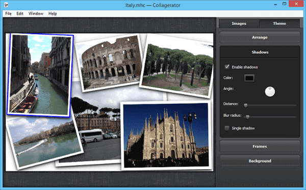 The Collagerator software is a free photo collage maker software that has been genuinely made for creating collages.