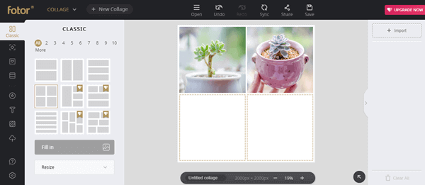 Fotor.com lets you create amazing photo collage online without any hassle.
