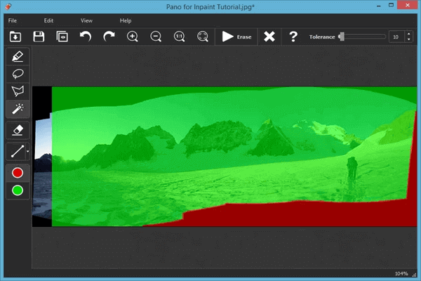 Remove Dark Areas from Panoramic Photos Using Inpaint