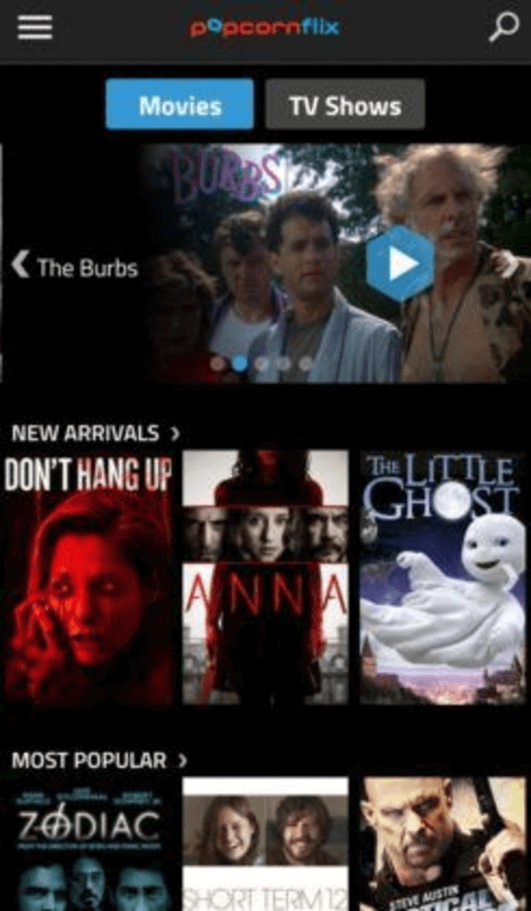 Popcornflix is another streaming service that shows movies and TV shows for free.
