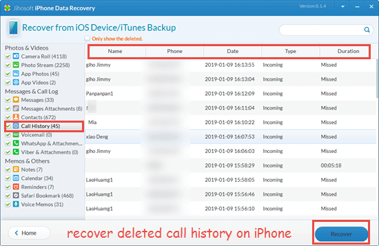 How to Recover Deleted Call History on iPhone without Backup