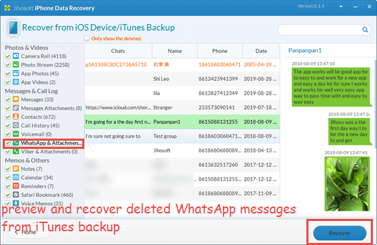 Restore Deleted WhatsApp Messages from the iCloud Backup File