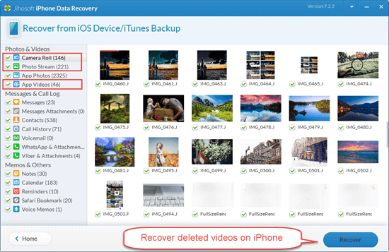 Recover Deleted Videos from iPhone Directly without Backup