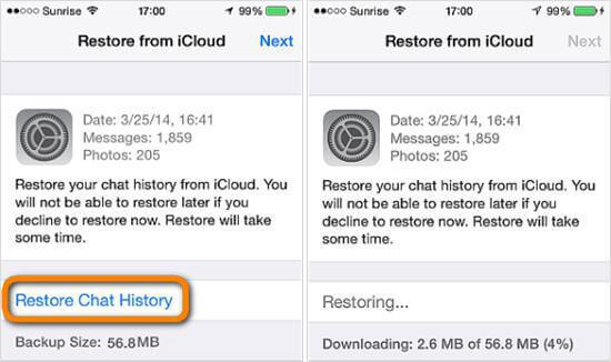 Here is how to recover chat history from WhatsApp iCloud backup