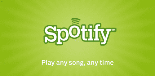 Spotify charges a hard and fast subscription fee per month for unlimited Music.