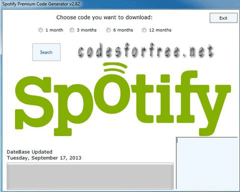 Our next entry is a service that not only offers a code generator for a Spotify premium subscription