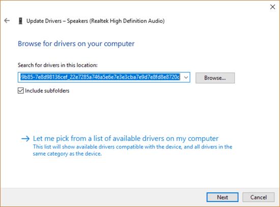How to install Realtek HD Audio driver manually