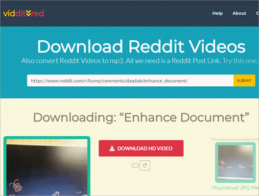Viddit.red claims to be a one-stop tool to download Reddit videos.